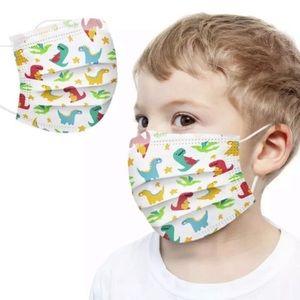 Dinosaur disposable face masks for children set of 50